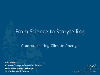 From Science to Storytelling