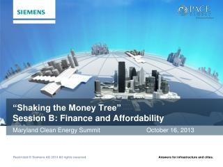 """""""Shaking the Money Tree"""" Session B: Finance and Affordability"""