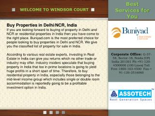 Assotech Windsor Court-Sector 78 @ Toll Free-1800-103-4500