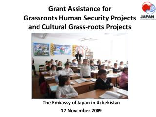 Grant Assistance for  Grassroots Human Security Projects and Cultural Grass-roots Projects  photo