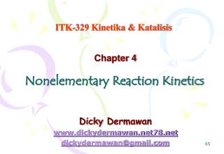 Nonelementary Reaction Kinetics