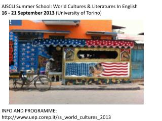 AISCLI  Summer  School: World  Cultures  &  Literatures  In English