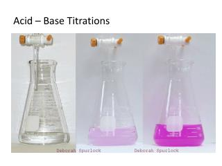 Acid – Base Titrations