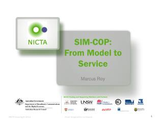 SIM-COP:  From Model to Service