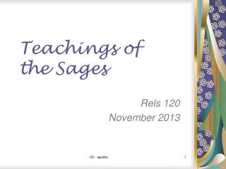 Teachings of  the Sages