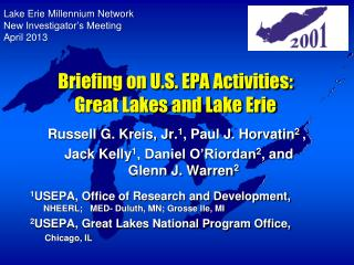 Briefing on U.S. EPA Activities: Great Lakes and Lake Erie