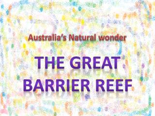 Australia's Natural wonder