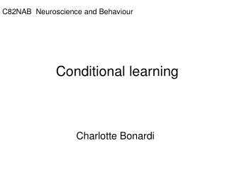 Conditional learning
