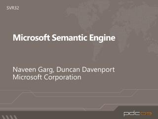 Microsoft Semantic Engine