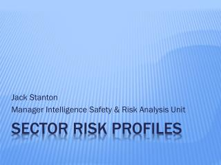 SECTOR Risk Profiles