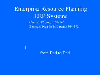 Enterprise Resource Planning ERP  Systems