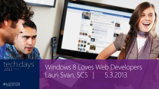 Windows 8 Loves Web Developers