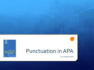 Punctuation in APA