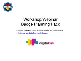 Workshop/Webinar  Badge  Planning  Pack