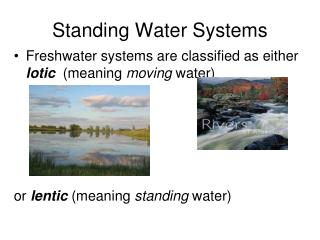 Standing Water Systems