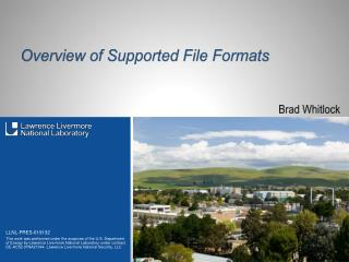 Overview of Supported File Formats