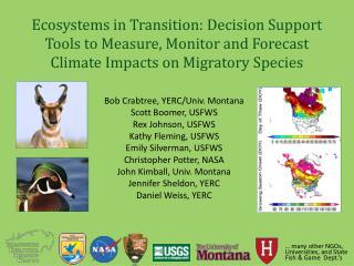 Bob Crabtree, YERC/Univ. Montana Scott Boomer, USFWS Rex Johnson, USFWS Kathy Fleming, USFWS