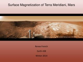 Surface Magnetization of Terra  Meridiani , Mars