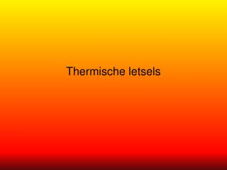 Thermische letsels