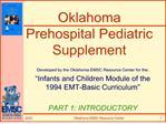 Oklahoma Prehospital Pediatric Supplement