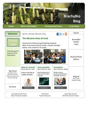Home 	What is  BrachyBio ?	Participating Classes	In the News