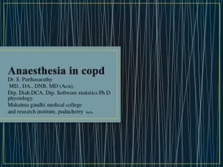 Anaesthesia  in  copd