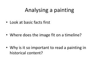 Analysing a painting