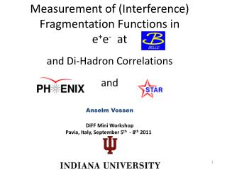Measurement of (Interference) Fragmentation Functions in e + e -  at