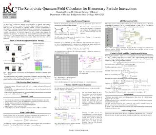 The Relativistic Quantum Field Calculator for Elementary Particle Interactions