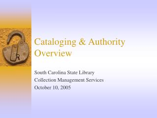 Cataloging  Authority Overview