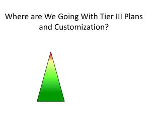 Where are We Going With Tier III Plans and Customization?