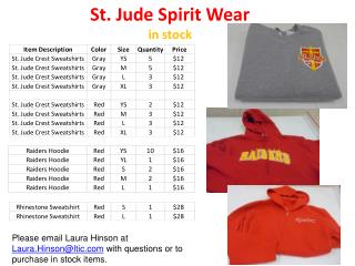 St. Jude Spirit Wear in stock