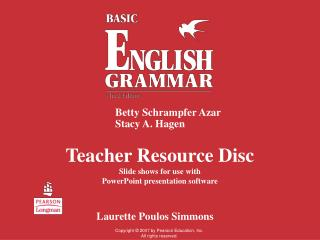Teacher Resource Disc Slide shows for use with  PowerPoint presentation software
