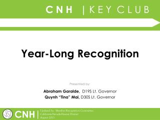 Year-Long Recognition