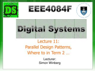 Lecture 11: Parallel Design Patterns, Where to in Term 2 …