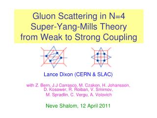 Gluon Scattering in N=4  Super-Yang-Mills Theory from Weak to Strong Coupling