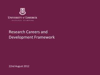 Research Careers and  Development Framework