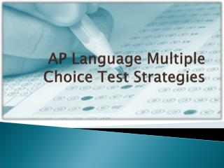 AP Language Multiple Choice Test Strategies