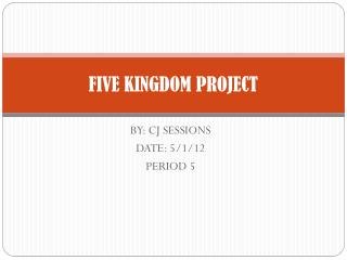 FIVE KINGDOM PROJECT