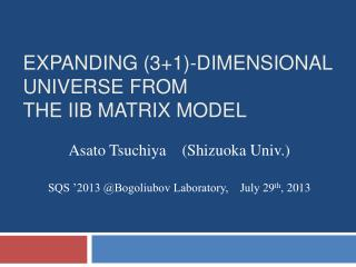 Expanding (3+1)-Dimensional universe from                        the IIB matrix model