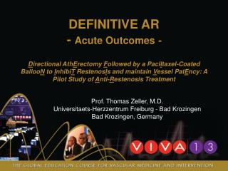 DEFINITIVE  AR -  Acute Outcomes  -