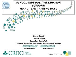 School-Wide  Positive Behavior  Support:  Year  3  Team Training  Day 2