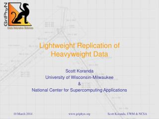 Lightweight Replication of Heavyweight Data