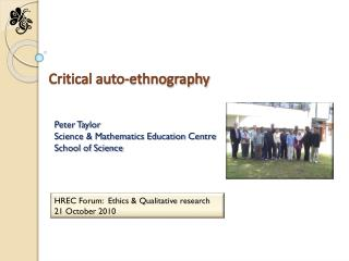 Critical auto-ethnography