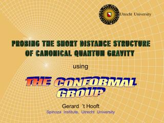 THE  CONFORMAL   GROUP