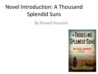 Novel Introduction: A Thousand Splendid Suns