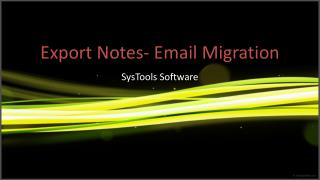 Lotus Notes to Outlook Migration Tool