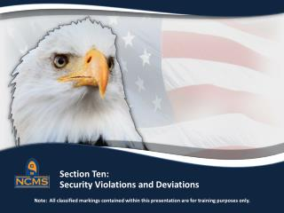 Security Violations and Deviations Definitions
