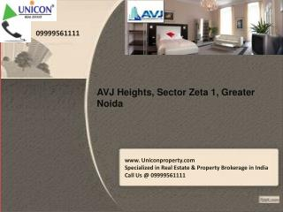 AVJ Heights Greater Noida | Call 09999561111 for booking
