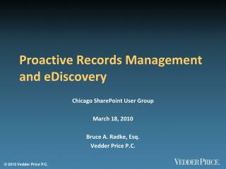 Proactive Records Management and eDiscovery